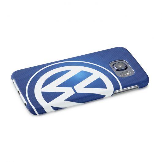 Coque VOLKSWAGEN logo pour Samsung Galaxy S6 bleue
