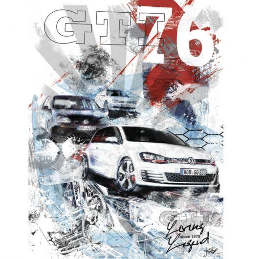 Impression artistique VOLKSWAGEN GTI 76
