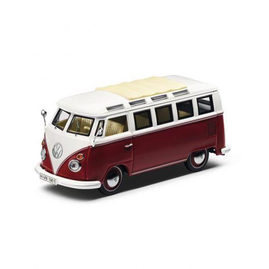 Miniature VOLKSWAGEN Combi T1 Samba Van 1951 rouge crème 1/43ème