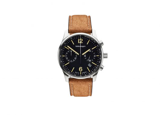 Montre VOLKSWAGEN bracelet cuir marron clair