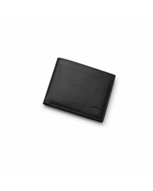 Porte monnaie VOLKSWAGEN en cuir noir