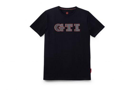 T-shirt VOLKSWAGEN GTI noir impression GTI noir imprimé 3D homme