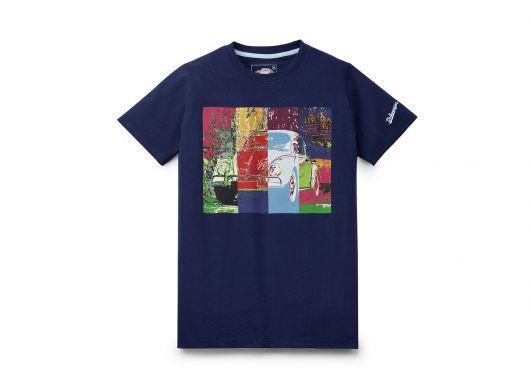 T-shirt VOLKSWAGEN pop art bleu coccinelle homme