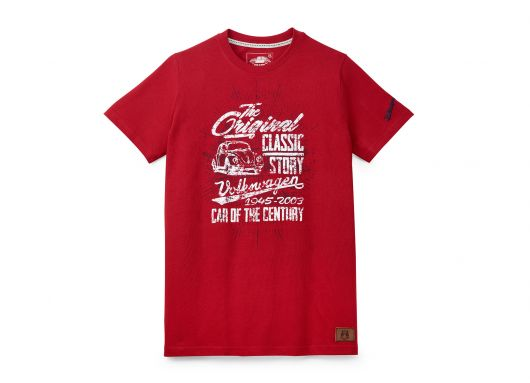 T-shirt VOLKSWAGEN the original rouge homme