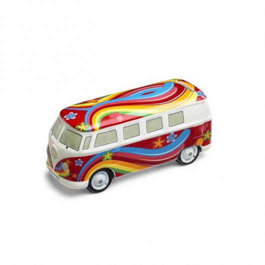 Tirelire VOLKSWAGEN UTILITAIRES Flower power rouge